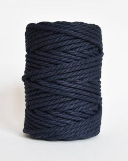 creadoodle soft collection macrame rope touw 6 mm katoen koord 3-ply twisted gedraaid gerecycled cotton rope macrame twisted navy blue