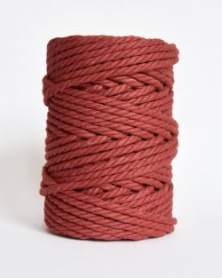 creadoodle soft collection macrame rope touw 6 mm katoen koord 3-ply twisted gedraaid gerecycled cotton rope macrame twisted berry blossom terra cotta