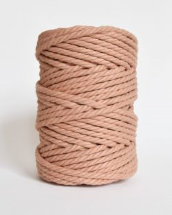 creadoodle soft collection macrame rope touw 6 mm katoen koord 3-ply twisted gedraaid gerecycled cotton rope macrame twisted blushing bride