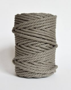 creadoodle soft collection macrame rope touw 6 mm katoen koord 3-ply twisted gedraaid gerecycled cotton rope macrame twisted river silt