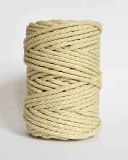 creadoodle soft collection macrame rope touw 6 mm katoen koord 3-ply twisted gedraaid gerecycled cotton rope macrame twisted vanilla cream
