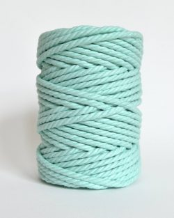 creadoodle soft collection macrame rope touw 6 mm katoen koord 3-ply twisted gedraaid gerecycled cotton rope macrame twisted mint macaron