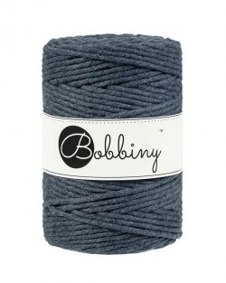 creadoodle bobbiny collection 5 mm macrame weaving string charcoal