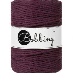 creadoodle bobbiny collection 5 mm macrame weaving string blackberry