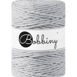 creadoodle bobbiny collection 5 mm macrame weaving string light grey