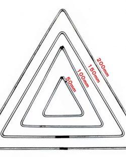 creadoodle metalen driehoek voor weven, macrame 15 en 20 cm metal triangle
