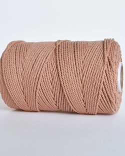 creadoodle 2 3 mm katoen koord touw 3-ply twisted gedraaid gerecycled cotton rope macrame twisted blushing Bride