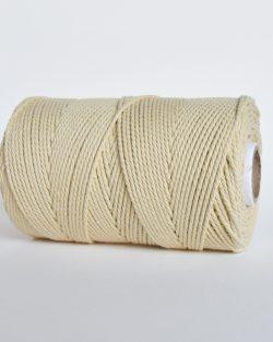 creadoodle 2 3 mm katoen koord touw 3-ply twisted gedraaid gerecycled cotton rope macrame twisted vanilla cream