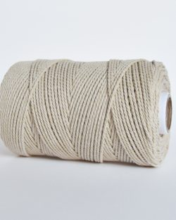 creadoodle 2.5 3 mm katoen koord touw 3-ply twisted gedraaid gerecycled cotton rope macrame twisted beach
