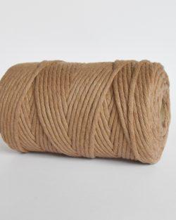 creadoodle lush collection 5 mm single strand oekotex cotton hazelnut butter katoen koord macrame, weaving cord