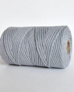 creadoodle lush collection 5 mm single strand oekotex cotton katoen koord macrame, weaving cord silver shadow