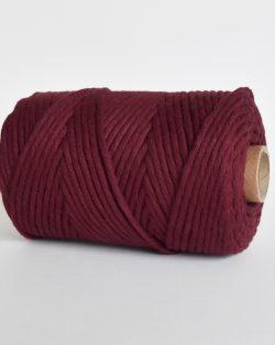 creadoodle lush collection 5 mm single strand oekotex cotton katoen koord macrame, weaving cord sangria