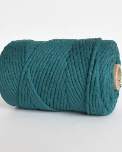 creadoodle lush collection 5 mm single strand oekotex cotton katoen koord macrame, weaving cord atlantic blue