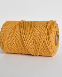 creadoodle lush collection 5 mm single strand oekotex cotton katoen koord macrame, weaving cord honey glow