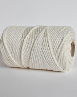 creadoodle lush collection 5 mm single strand oekotex cotton katoen koord macrame, weaving cord natural