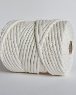 creadoodle lush collection 9 mm single strand oekotex cotton katoen koord macrame, weaving cord natural