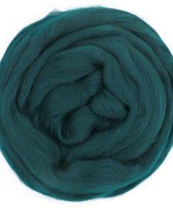 creadoodle lontwol wool roving dark petrol 631