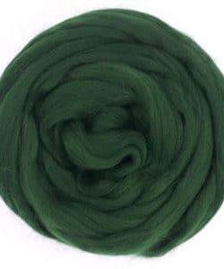 Creadoodle Merino lontwol XL wool big wool wool roving deep forest green 628