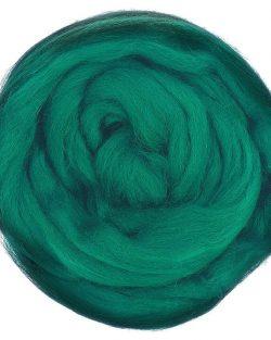 creadoodle lontwol wool roving jade 630