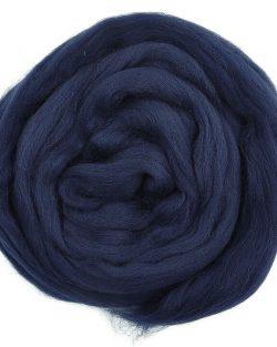 creadoodle lontwol wool roving navy 625