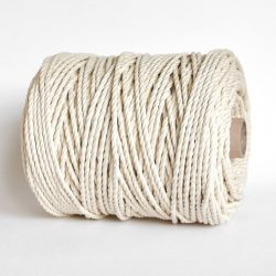 creadoodle luxe rope katoen touw 5 mm 3-ply twisted cotton natural raw for macrame weven hobby creatief