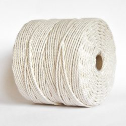 Creadoodle soft collection katoen touw 5 mm twisted natural rope macrame recycled cotton
