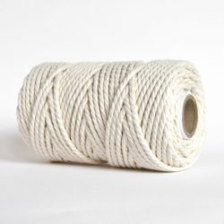 creadoodle soft collection 5 mm macrame rope touw 5 mm katoen koord 3-ply twisted gedraaid gerecycled cotton rope macrame twisted natural