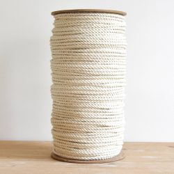 creadoodle luxe rope 6 mm 3-ply twisted cotton rope natural raw for macrame and other creative hobby, macrame touw