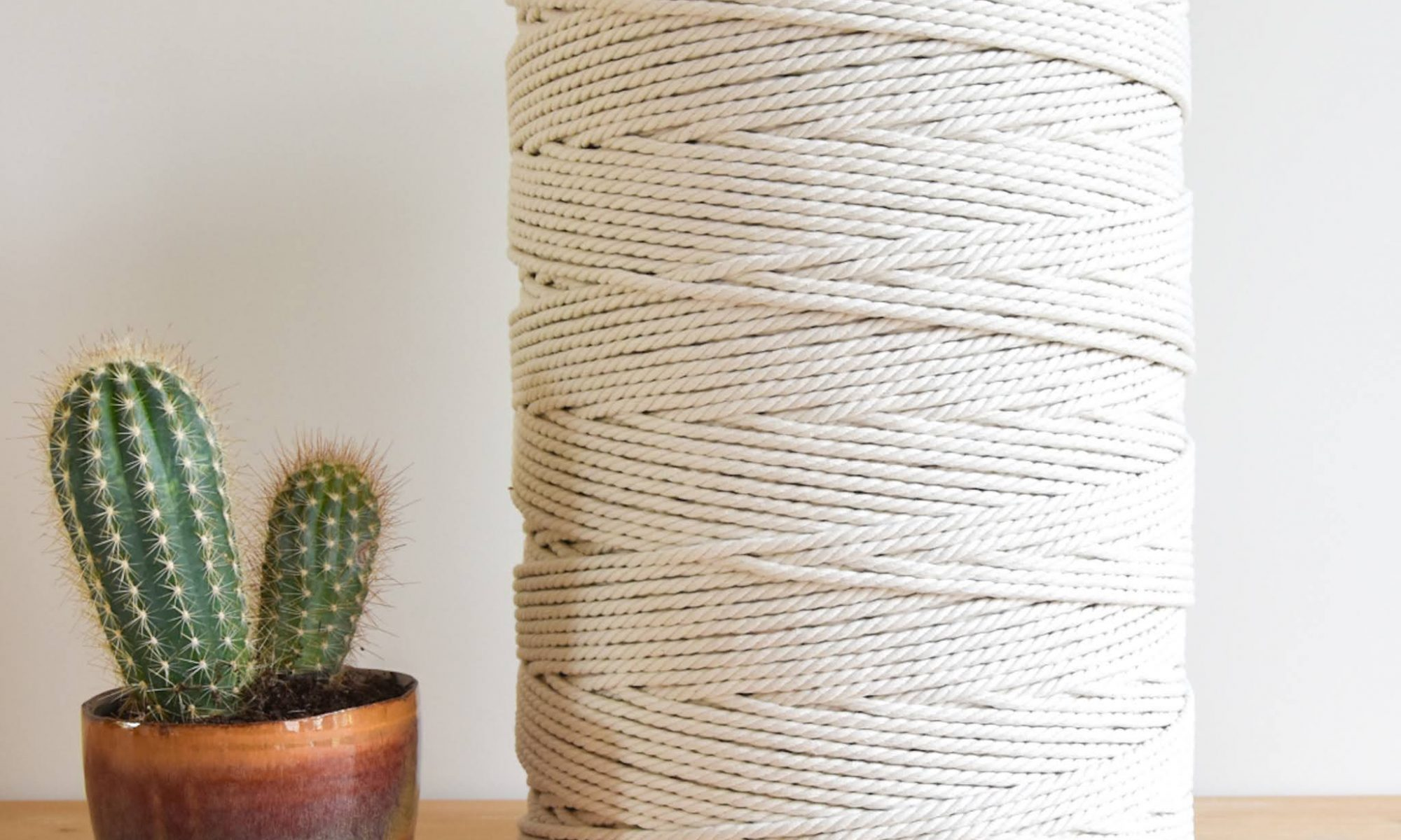 6 mm recycled oekotex100 macrame for rope cotton twisted 3-ply collection soft Creadoodle macrame touw naturel katoen