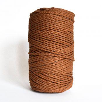 creadoodle luxe collectie katoen koord touw voor macrame weven haken, breien, needle punch en andere creatief hobby 4 mm 3-ply twisted caramel