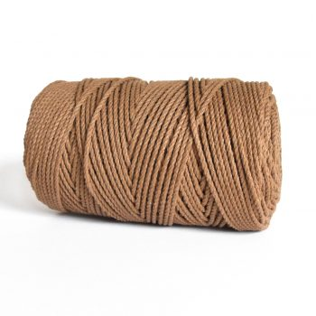 creadoodle luxe collectie katoen koord touw voor macrame weven haken, breien, needle punch en andere creatief hobby 4 mm 3-ply twisted mocha