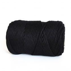 enz haken weven macrame black cord cotton lush Creadoodle