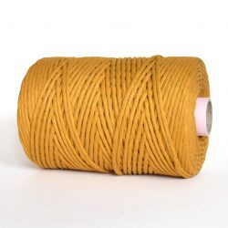 creadoodle luxe collection cotton string cord 5 mm macrame, weven, weaving, tassels, fringe, needle punch rope touw koord mustard