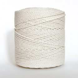 Creadoodle basic collection 4 mm cotton rope 3-ply natural naturel katoen touw macrame weven