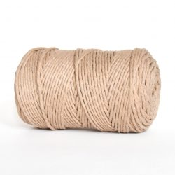 creadoodle luxe collection cotton string for macrame, weaving, crochet, knitting, needle punch and more 3 mm 1-ply sahara dust