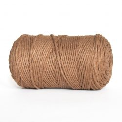 creadoodle luxe collection cotton string for macrame, weaving, crochet, knitting, needle punch and more 3 mm 1-ply mocha