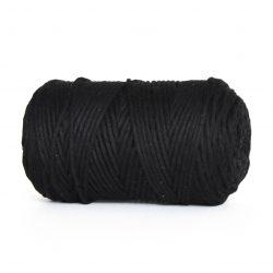 creadoodle macrame weaving cotton cord 3 mm super soft high quality cotton string weven katoen koord black