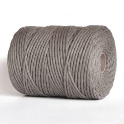 creadoodle soft collection cotton string 100% recycled cotton 200 meter 4.5 mm cones in over 30 colours for macrame, weaving, crochet, knitting needle punch and more taupe