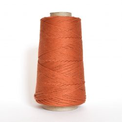 Creadoodle combed cotton collection 1 mm of the highest quality cotton for macrame, weaving, crochet, needle punch, embroidery, super kwaliteit katoen koord 30 colours available burnt brick