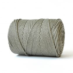 creadoodle basic collection string and rope for macrame, weaving, crochet, knitting needle punch and more 100% cotton natural raw 3 mm khaki green army