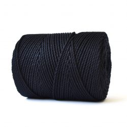 creadoodle basic collection string and rope for macrame, weaving, crochet, knitting needle punch and more 100% cotton natural raw 3 mm black