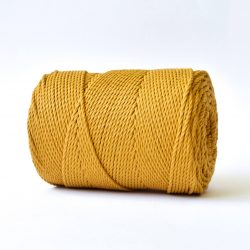 creadoodle basic collection string and rope for macrame, weaving, crochet, knitting needle punch and more 100% cotton natural raw 3 mm mustard ochre