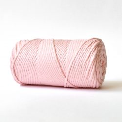 creadoodle basic collection string and rope for macrame, weaving, crochet, knitting needle punch and more 100% cotton natural raw 3 mm rose quartz