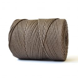 creadoodle basic collection string and rope for macrame, weaving, crochet, knitting needle punch and more 100% cotton 3 mm tender taupe