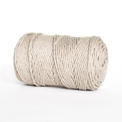 creadoodle luxe collection 3 mm cotton string for macrame weven punchneedle haken crochet and more champagne