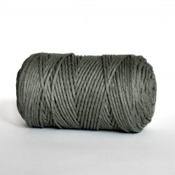 creadoodle luxe collection 3 mm cotton string for macrame weven punchneedle haken crochet and more army green