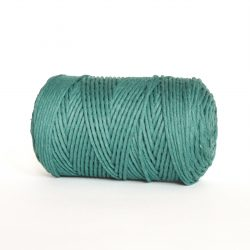 creadoodle luxe collection 3 mm cotton string for macrame weven punchneedle haken crochet and more sea green