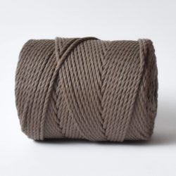 creadoodle basic collection string and rope for macrame, weaving, crochet, knitting needle punch and more 100% cotton 4 mm tender taupe