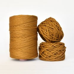 Creadoodle Giza Collection, egyptian cotton for high end fiber arts as macrame and weaving, 5 mm 1-ply string honey glow