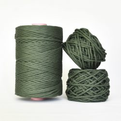 Creadoodle Giza Collection, egyptian cotton for high end fiber arts as macrame and weaving, 5 mm 1-ply string central park